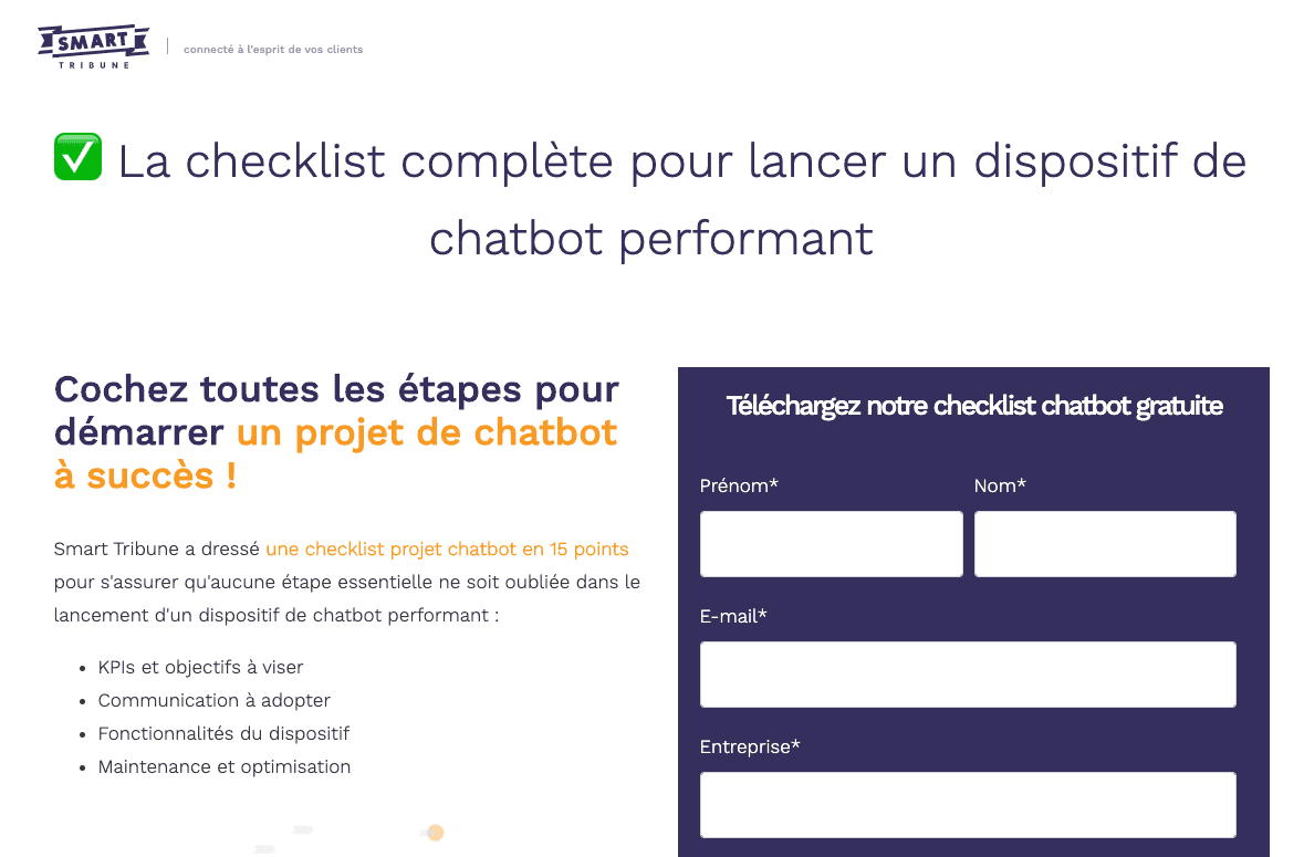 exemple de lead magnet : la checklist