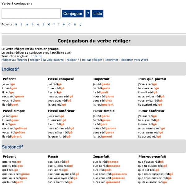 outils du rédacteur web pour conjuguer