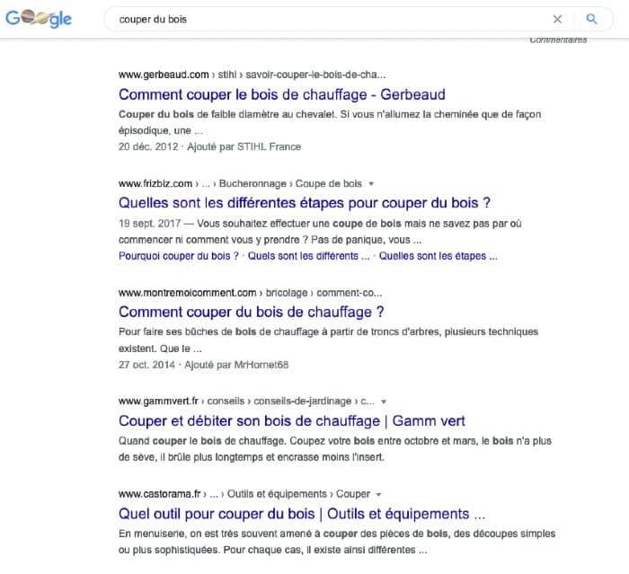 La SERP de Google
