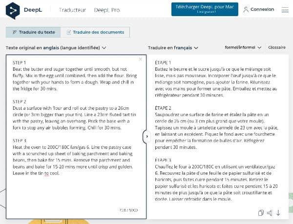 Le service de traduction en ligne deepl