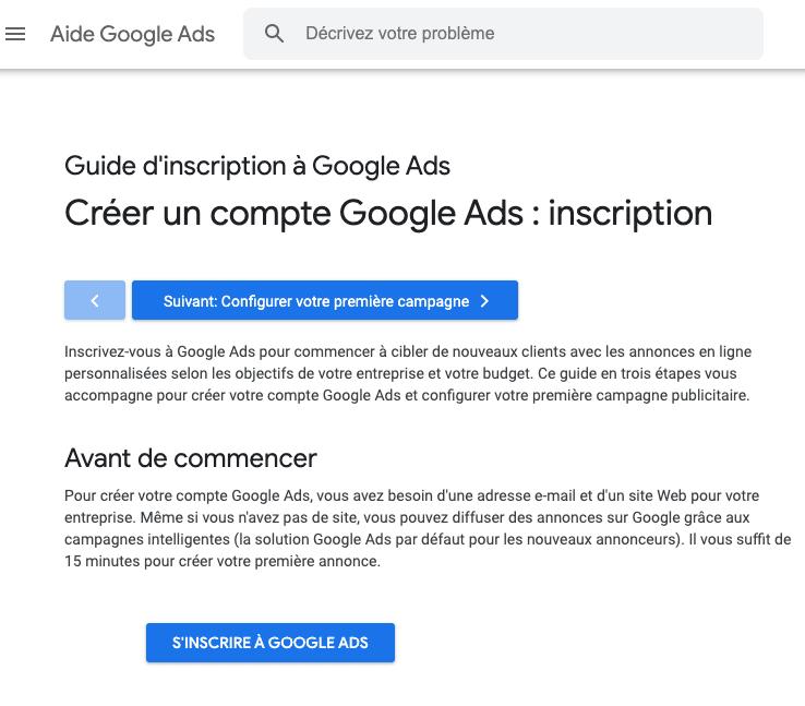 L'outil Google Ads pour la recherche de mots-clés