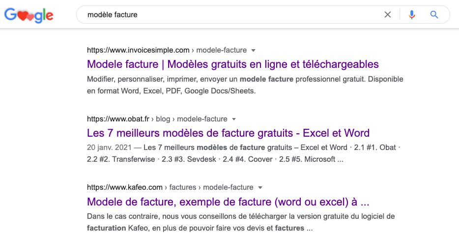 3 landing pages sur Google