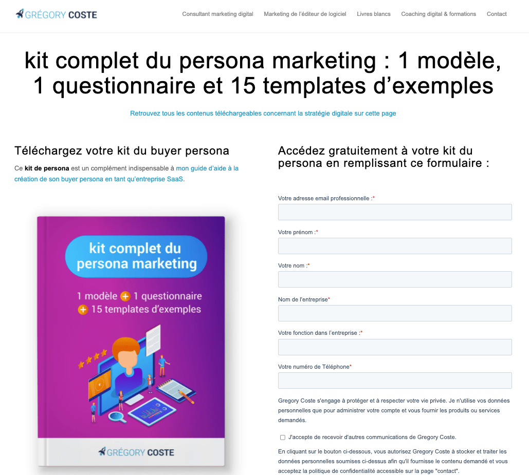 formulaire : exemple